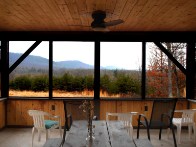 Mountain view from Pavillion at Bear Paw Tract 4. Built by Norman Weaver.