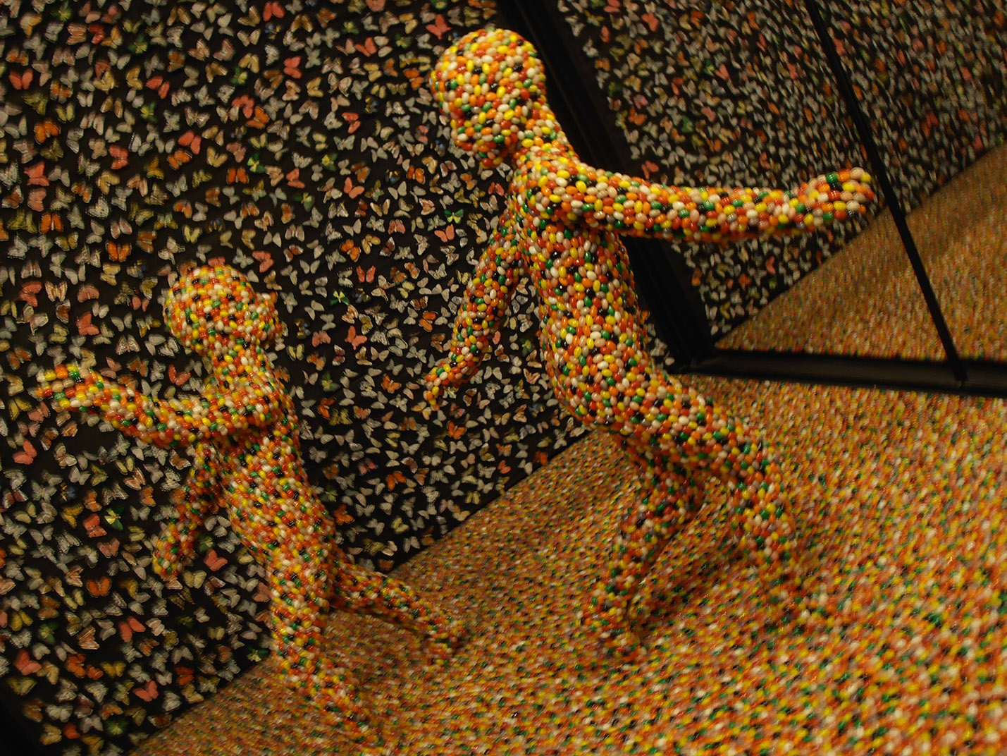 Mirrors and jelly beans, Art Exhibit, Liberty Museum, Philadelphia, PA