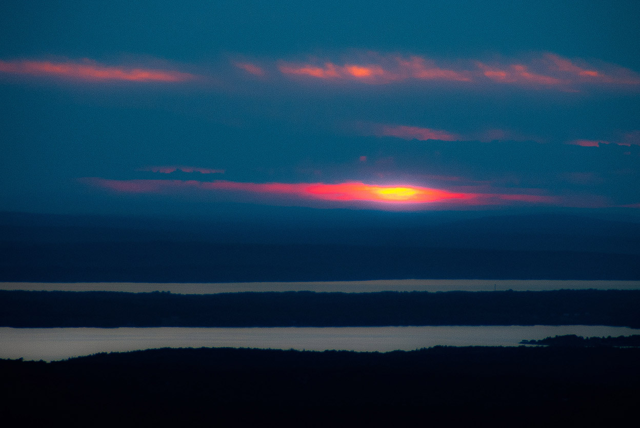 Cadillac Mountain, Maine, looking West, Sunset  2014 06.08